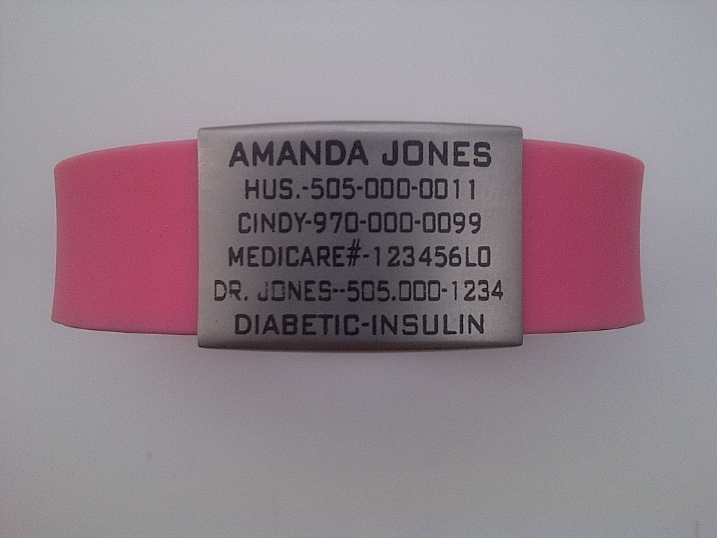 медицинский браслет для диабетика