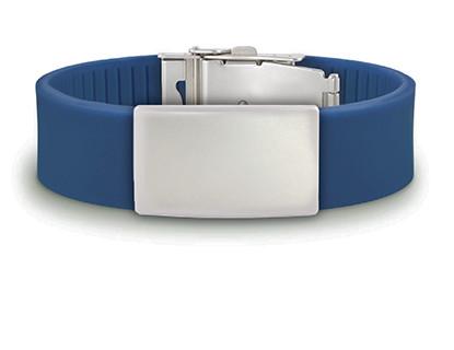 синий браслет, спортивный