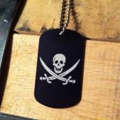 пиратский знак дог тег 415