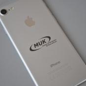 айфон с логотипом