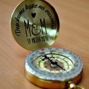 Свадебная гравировка компас