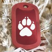 адресник красный для собаки