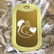 адресник желтый для собаки